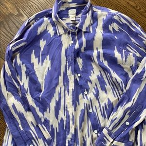 Jcrew size 8 ikat button down